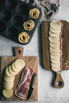 Kartoffelroser med bacon og manchego ost ⋆ BY DIANAWI Oven Dishes, Recipe Today, Food For Thought, Soul Food, Food Inspiration, Tapas, Bacon, Food To Make, Brunch