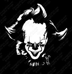 Let people know what you're about without saying a word, let this decal do the talking. <br /><br x Pennywise vinyl decal sticker. <br /><br />Made with high quality matte vinyl.<br /><br />different colors and sizes available upon request. Halloween Vinyl, Halloween Drawings, Halloween Quotes, Batman Drawing, Shadow Photos, Joker Art, Dark Photography, Silhouette Art, Stencil Art
