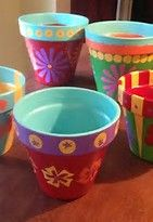 Image result for small painted flower pots