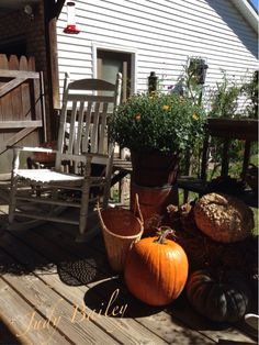My fall back porch