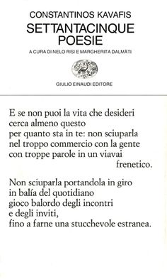 Settantacinque poesie - Konstantinos Kavafis