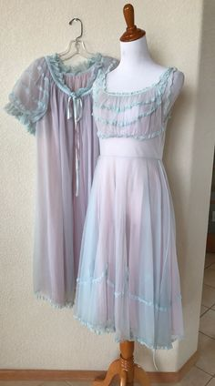 Very good condition. There is a small spot where the lace has separated from the nylon along the strap of the nightgown (see last photo.). Also there is spaghetti rope trim at the waistline of the nightgown. | eBay!