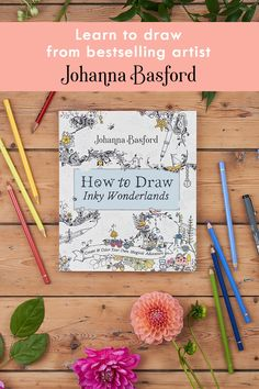 Bestselling artist Johanna Basford shares the fun, easy, no-skills-needed secrets to creating your own wondrous realms with line drawing in How To Draw Inky Wonderlands. Joanna Basford, Drawing Tutorials For Beginners, Painting & Drawing, Drawing Tips, Learn To Draw, Art Techniques, Doodle Art, Art Lessons, Coloring Books
