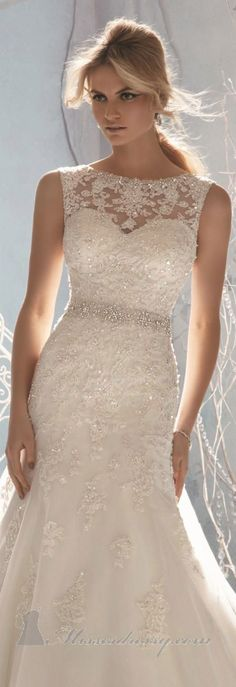 Minus everything above the sweetheart neckline Beaded Sleeveless Gown by Bridal by Mori Lee <3