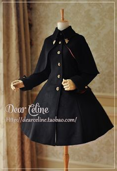 Dear Celine new op black coat