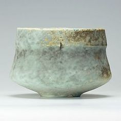 Grey/lemon ribbed bowl by Jack Doherty