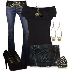 Denim & black. Love this