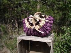 Handwoven Antler Handle Basket' is going up for auction at 7pm Tue ...