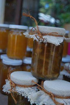 cute idea on covering your Jam jars