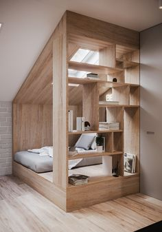 Townhouse on Behance Home Room Design, Tiny House Design, Home Interior Design, Dream Rooms, House Rooms, New Room, Small Spaces, Diy Home Decor, Furniture Design