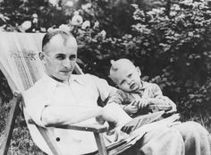 Adolf Eichmann with his son Horst in Prague, circa 1942.