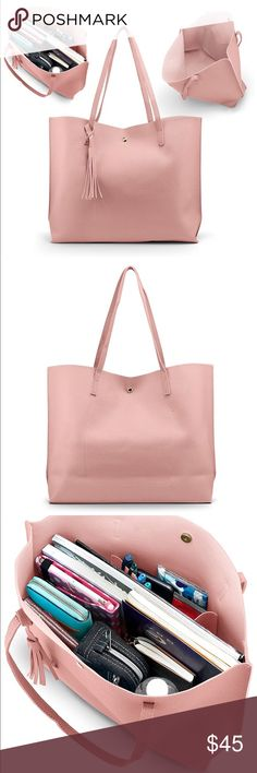 Effortlessly Make Your Handbags Complement Your Outfit Every Single Time - Best Fashion Tips University Bag, Inside My Bag, What In My Bag, Pink Tote Bags, Work Bags, Cute Bags, Bag Organization, Casual Bags, Large Tote