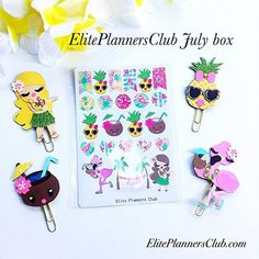 Don't miss out on my monthly planner paperclips box kits.  These paperclips have so much detail and are not available separately!  This kit sold out fast.  Stay tuned for our next monthly kit follow me on instagram @eliteplannersclub.com for updates and sneak peeks