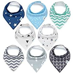 Baby Bandana Drool Bibs for Drooling and Teething Unisex 8 Pack Gift Set 100 Organic Cotton Hypoallergenic Super Absorbent for Boys and Girls by MiChef *** Check out the image by visiting the link. The Sims, Sims 4, Baby Set, Best Baby Bibs, Baby Bibs Patterns, Sewing Patterns, Best Baby Shower Gifts, Baby Gifts, Dribble Bibs