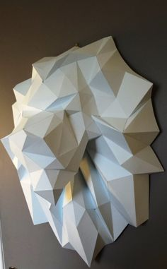 Paper Trophy Lion Head DIY papercraft. by SculPaperShop on Etsy