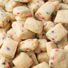These adorable mini Funfetti Shortbread Bites are ridiculously easy to make and totally addictive!