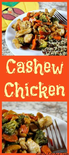 Better than takeout – this delicious and healthier Cashew Chicken is easy to make at home and is full of veggies!