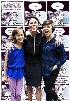 Ask Alison! Tony-Nominated FUN HOME stars Beth Malone, Sydney Lucas & Emily Skeggs talk candy, cash & celebrities #pinoftheday Fun Home Broadway, Fun Home Musical, Musical Theatre Broadway, Theatre Geek, Music Theater, Theatre Design, Alison Bechdel, Next To Normal, Celebs