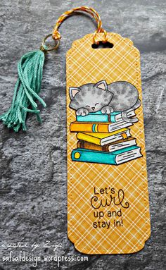 Happy Birthday Cat Card by safsafdesign | Newton's Book Club stamp set by Newton's Nook Designs #newtonsnook