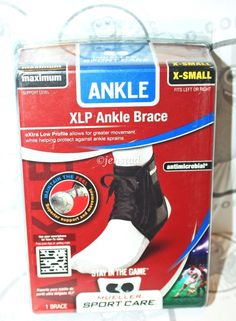 MUELLER SPORT CARE XLP BLACK ANKLE BRACE MAXIMUM SUPPORT X-SMALL MEN OR WOMEN #MUELLER
