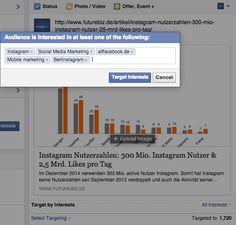 Facebook Community Management für Facebook Seiten - Targeting nach Interessen von Fans