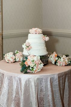 Blush floral cake dreams. Simplicity at its best!