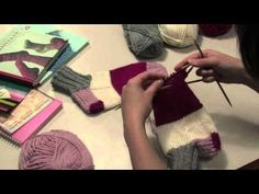 Arts And Crafts, Diy Crafts, Knitting Socks, Fingerless Gloves, Arm Warmers, Textiles, Youtube, Knit Socks, Fingerless Mitts