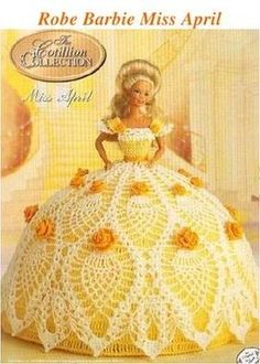 Items similar to Annie's Attic Crochet Bed Doll Pattern April 1992 Cotillion Barbie Doll Dress on Etsy Crochet Barbie Patterns, Crochet Doll Dress, Crochet Barbie Clothes, Doll Clothes Barbie, Crochet Doll Pattern, Doll Clothes Patterns, Doll Patterns, Barbie Doll, Pattern Dress