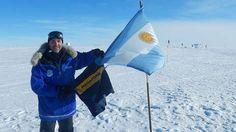 Continente Antartico... Polo Sur....  La Celeste y Blanca, La Azul y Oro...