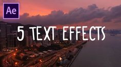 5 Great Text Effects in Adobe After Effects CC (Wiggle, Flicker & more animations) (How to Tutorial_ - YouTube