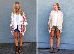 Kimono DIY.  Kimono DIY. beach cover up, slouchy, layers, flowy, patterns, sewing, pretty top