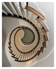 Shot upwards in this staircase while visiting a home where I was doing the kitchen.  Photo by Jerry Hankins