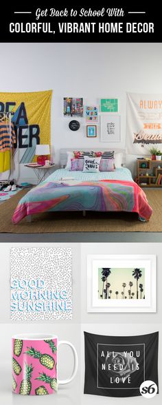 Design your dorm or apartment your way, no matter how big or small it is. Shop essentials including amazing wall tapestries, unique art prints, versatile tote bags and more. Get your #dormgoals fulfilled. Every purchase supports an independent artist.