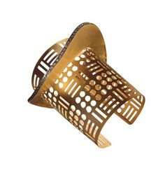 2014 JCK Jewelers' Choice Awards ~ Best Bracelet Design - Over $10,000 Yellow gold and diamond cuff by Thyreos Vassiliki.