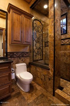 creative shower enclosure. Basement bathroom