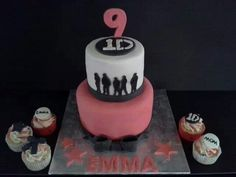 One direction cake and cupcakes