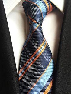New Classic Stripes JACQUARD WOVEN Silk Tie