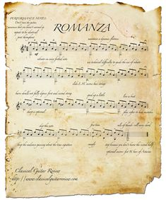 The famous Spanish Romance.. finally the REAL score!!!