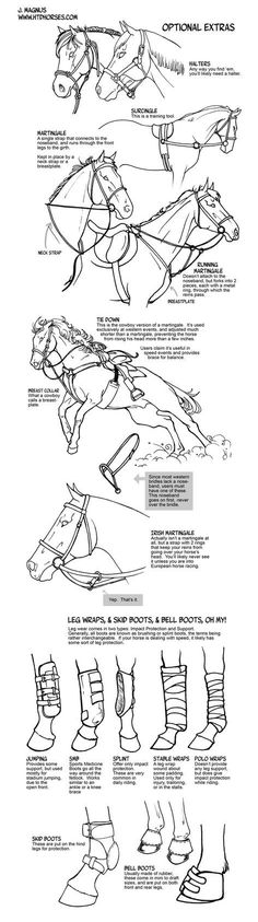 How to draw tack Optional Extras by sketcherjak on DeviantArt