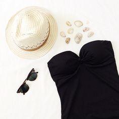 tie-front swimsuit