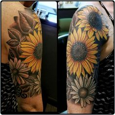 DETAILS OF THE SUNFLOWER  #SunflowerTattoo  DETAILS OF THE SUNFLOWER