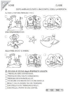 Risultati immagini per schede comprensione per scuola
