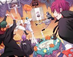 Kuroko no Basuke / Kiseki no Sedai Kuroko No Basket, Anime Halloween, Happy Halloween, Halloween Party, Fanarts Anime, Manga Anime, Anime Art, Kurokos Basketball, Super Manga