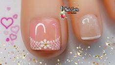 Summer Toe Nails, Nail Art Videos, Toe Nail Designs, French Nails, Pedicure, Nail Polish, Lily, Youtube, Outfits