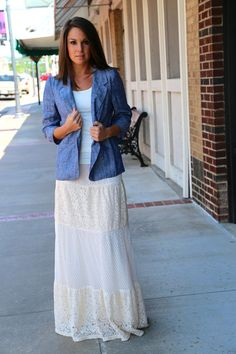 Lace All Over Maxi Skirt {Cream} - The Rage