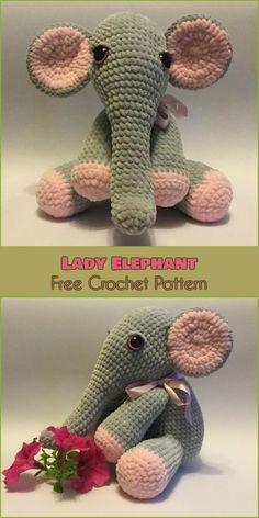 Lady Elephant [Free Crochet Pattern]