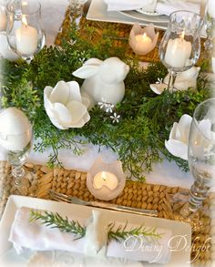Dining Delight: A White Easter Tablescape