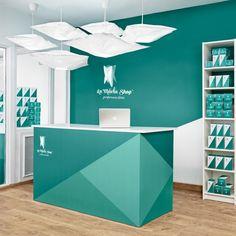 Small Office Design, Dental Office Design, Medical Design, Office Interior Design, Office Wall Art, Office Walls, Office Decor, Supermarket Design, Retail Store Design