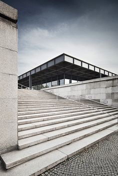 National Gallery/ Neue Nationalgalerie Kulturforum/ Museum for Modern Art. Berlin. Ludwig Mies van der Rohe 1968.