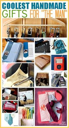 These are the coolest Handmade Gifts for Men... Pin it now and make them later! the36thavenue.com